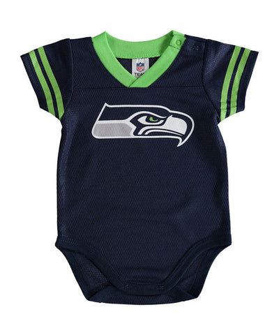Seattle Seahawks Infant Newborn (3-6 Months) Dazzle Bodysuit Navy