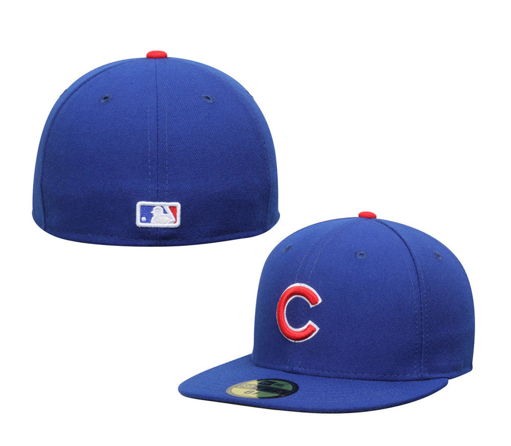 f83bfaaf2d0 Chicago Cubs Fitted New Era 59FIFTY On-Field Cap Hat Blue – THE 4TH ...