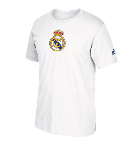 Real Madrid Men's Adidas Team Crest T-Shirt White
