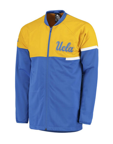UCLA Bruins Mens Adidas On Court Full Zip Jacket Blue Yellow
