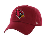 Arizona Cardinals Strapback '47 Brand Clean Up Adjustable Cap Hat Red