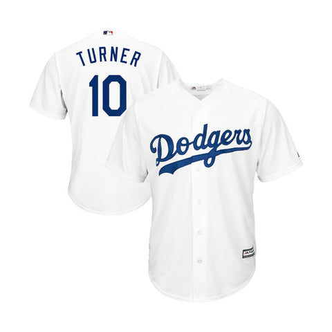 Los Angeles Dodgers Mens Jersey #10 Justin Turner Majestic Cool Base White