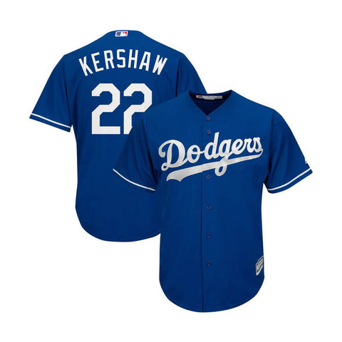 Los Angeles Dodgers Mens Jersey #22 Clayton Kershaw Majestic Cool Base Blue