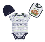 Seattle Seahawks Infant 3-Piece Bodysuit, Bib & Cap Set
