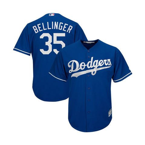 Los Angeles Dodgers Mens Jersey #35 Cody Bellinger Majestic Cool Base Blue