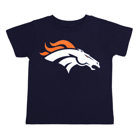 Denver Broncos Toddler (2T-4T) Logo T-Shirt Navy
