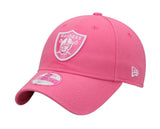 Oakland Raiders Adjustable Womens New Era Preferred Pick Cap Hat Pink