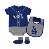 Los Angeles Dodgers Infant 3 Pc Tiny Player Bib, Boodie & Bodysuit Set