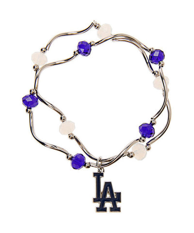 Los Angeles Dodgers Womens Bracelet Womens Bead Stretch