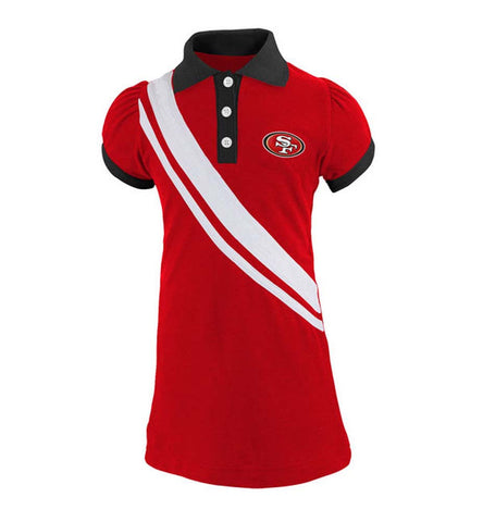 San Francisco 49ers Girls Toddler Polo Dress Red