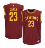 Cleveland Cavaliers Men's Adidas #23 LeBron James Swingman Road Jersey Burgundy