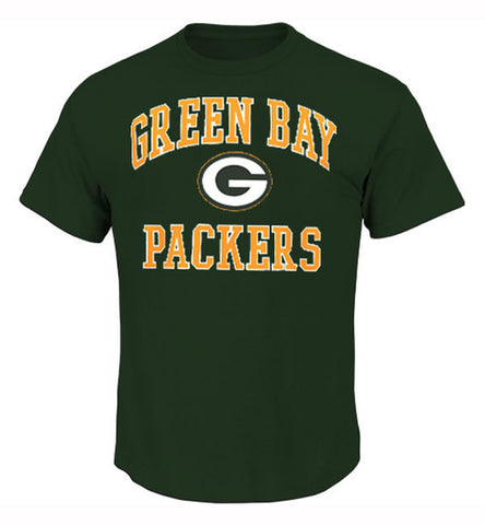 Green Bay Packers Mens Majestic Heart & Soul T-Shirt Green