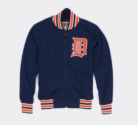 Detroit Tigers Mens Mitchell & Ness 1991 Authentic BP Jacket