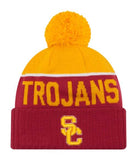 USC Trojans Beanie New Era 15 Sport Cuffed Knit Hat With Pom