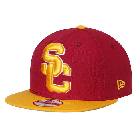 USC Trojans Snapback New Era XL Grand Cap Hat Red Yellow