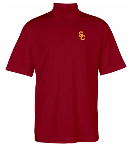 USC Trojans Mens Interlock Polo Shirt Red