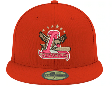 Rojos del Águila de Veracruz Fitted Mexican LMB New Era 59Fifty Red Hat Cap
