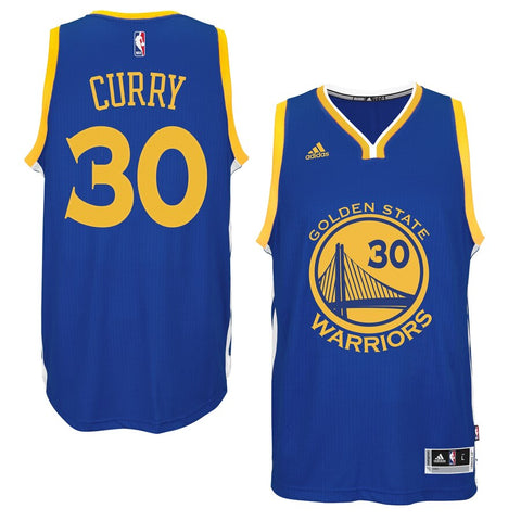 Golden State Warriors Mens Jersey Adidas #30 Curry Blue
