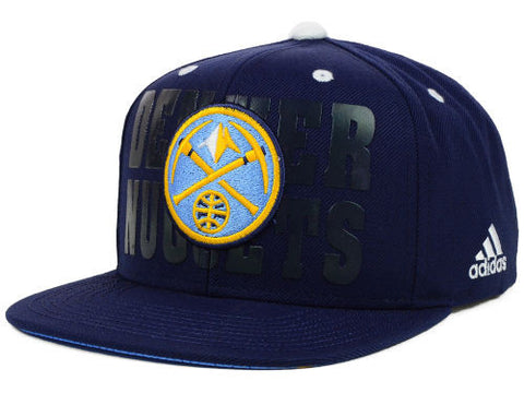 Denver Nuggets Snapback Adidas 2014 NBA Draft Cap Hat Navy