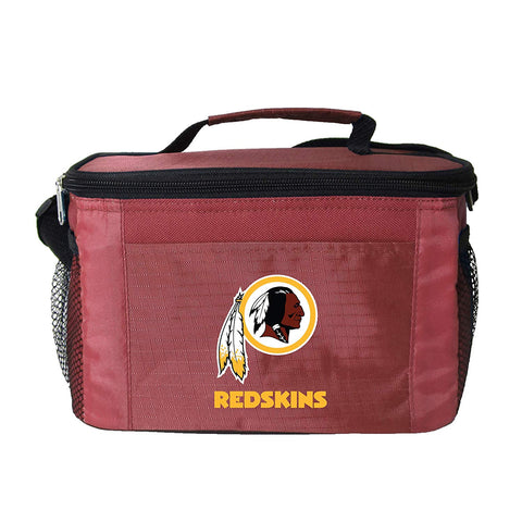 Washington Redskins 6-Pack Cooler Lunch Bag Black