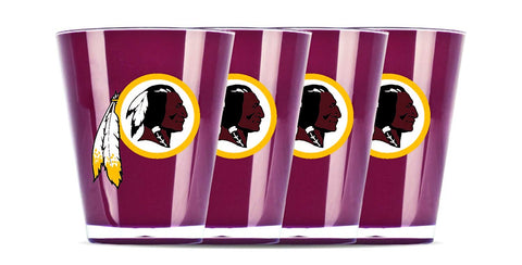 Washington Redskins Insulated Acrylic Shot Glass 4pc Set
