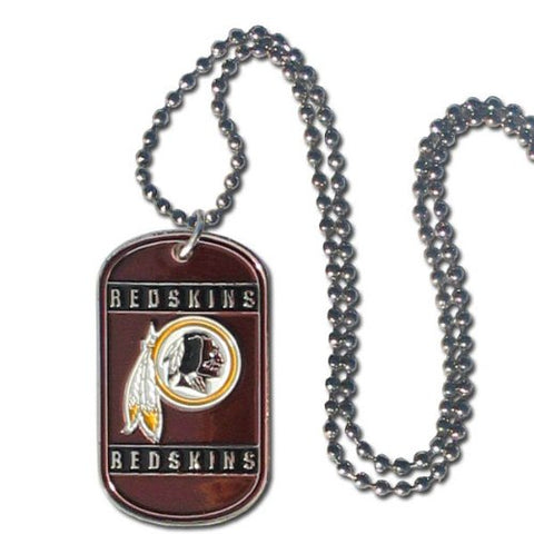 Washington Redskins Dog Tag Necklace