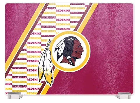 Washington Redskins Tempered Glass Cutting Board with Display Stand