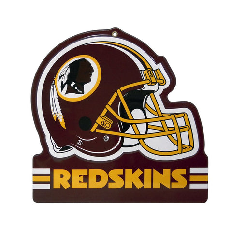 "Washington Redskins Embossed Metal Helmet Sign, 8"" x 8"""