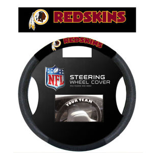 Washington Redskins Black Poly-suede & Mesh Steering Wheel Cover