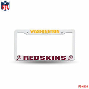 Washington Redskins White Plastic License Plate Frame