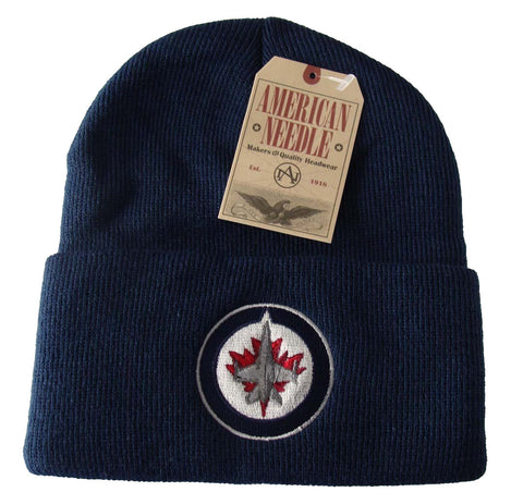 Winnipeg Jets Beanie AN Embroidered Folded Ski Cap Navy