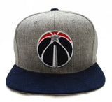 Washington Wizards Snapback Mitchell & Ness Heather Micro Cap Hat Grey Navy