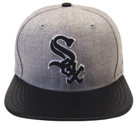 Chicago White Sox New Era ORIGINAL FIT Blend Beat Snapback Cap Hat Wool Leather