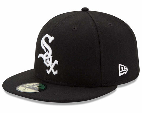Chicago White Sox Fitted New Era 59Fifty On Field Black Cap Hat
