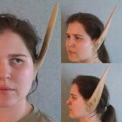 Latex Elf Ears - 9 Inch Length - Plain w/FlexFoam Filling