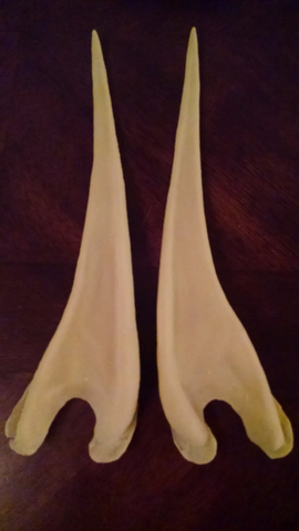 Latex Elf Ears - 12 Inch Length - Plain or Purple w/FlexFoam Filling