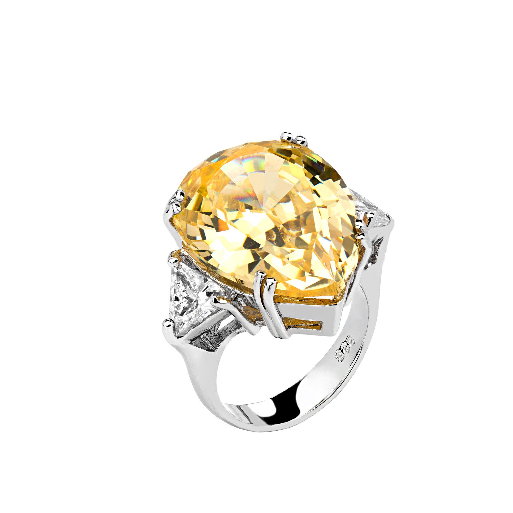 white heyman and jewelry yellow flower rings diamond gold amber ring oscar engagement