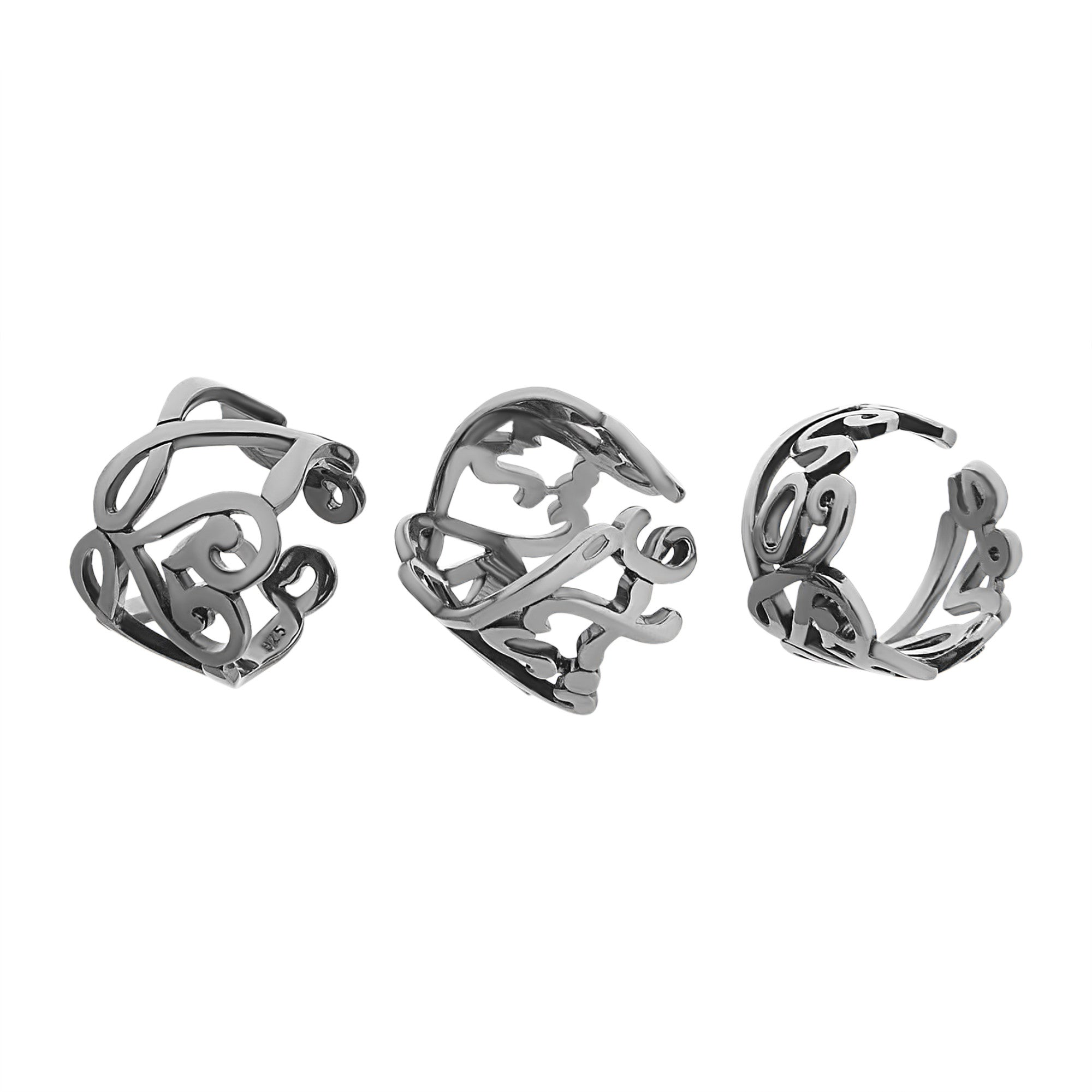 knotted silver daughter three rings in mother sterling one