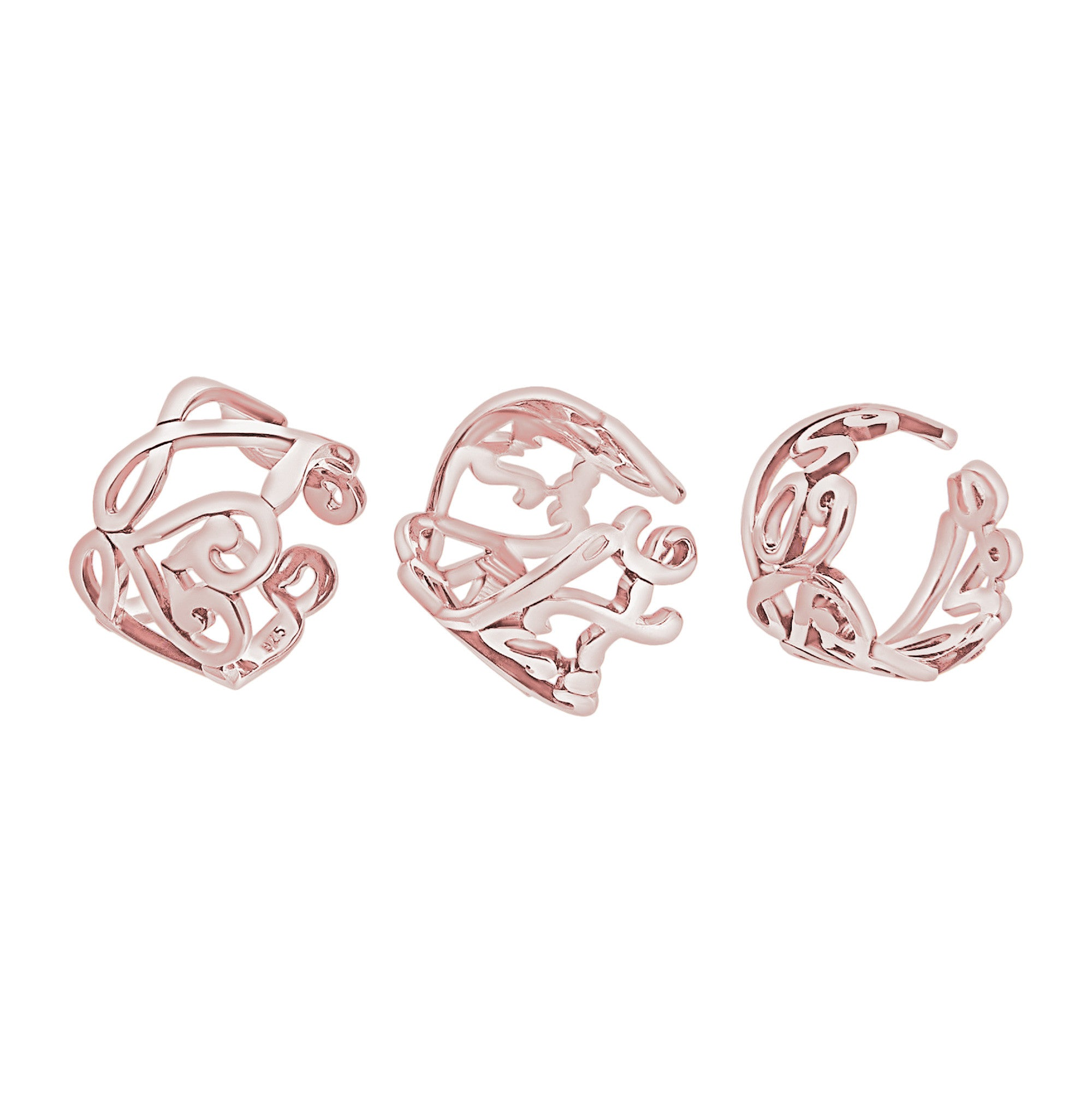 combine threeman women rose shape engagement solid heart gold in style synthetic rings from for set clover diamond item three