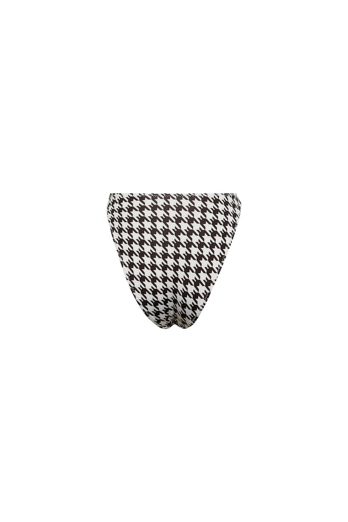 HIGH RISE BOTTOM - BLACK HOUNDSTOOTH