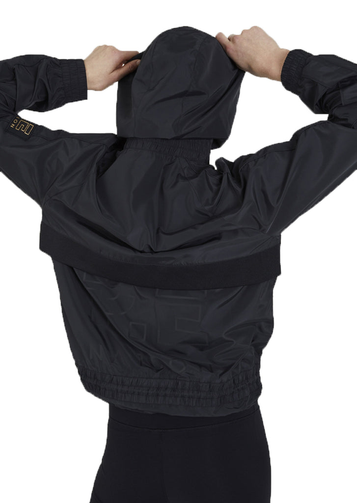 TRAINING DAY MAN DOWN JACKET - BLACK