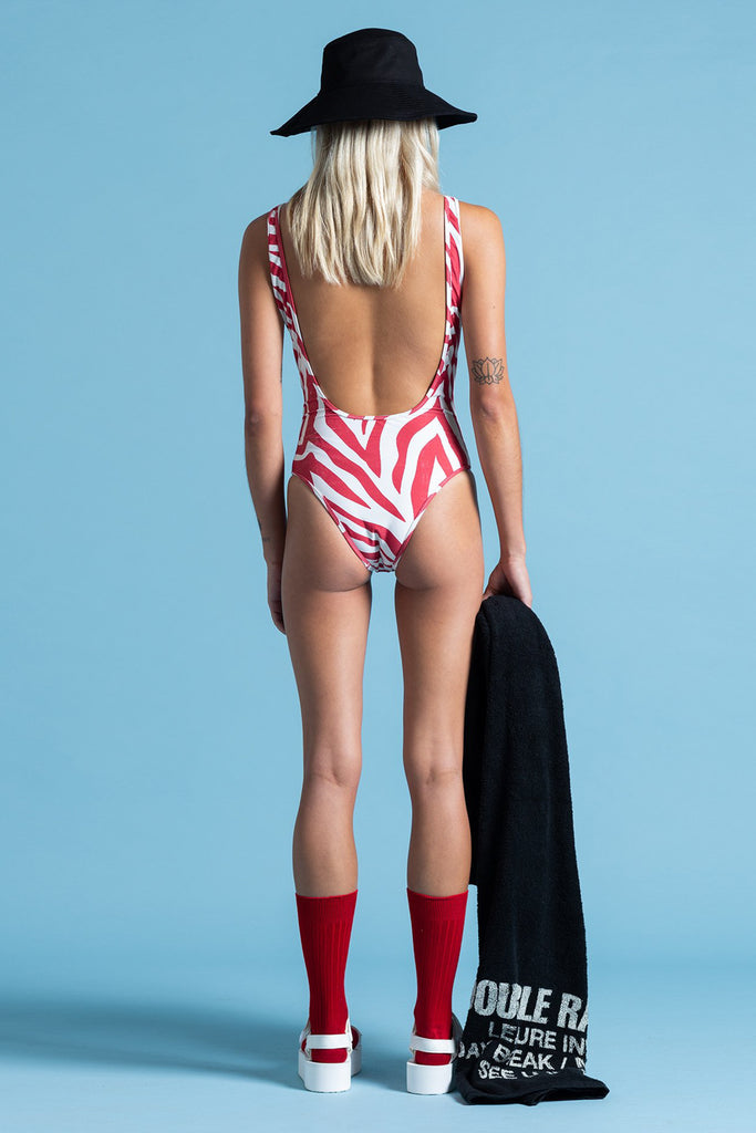POOL SHARK ONE PIECE - RED