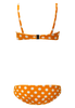 GENEVIEVE TERRY BIKINI SET - ORANGE POLKA DOT
