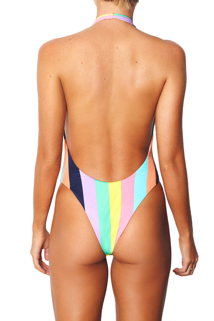 LOW FRONT ONE PIECE - COCO BLOCK STRIPE