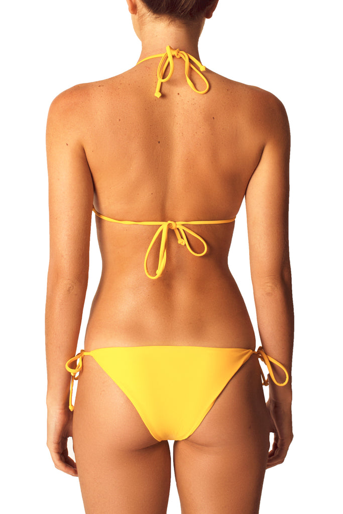 SLIDING TRIANGLE TOP - YELLOW