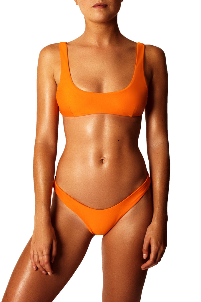 LOW BACK CROP TOP - ORANGE