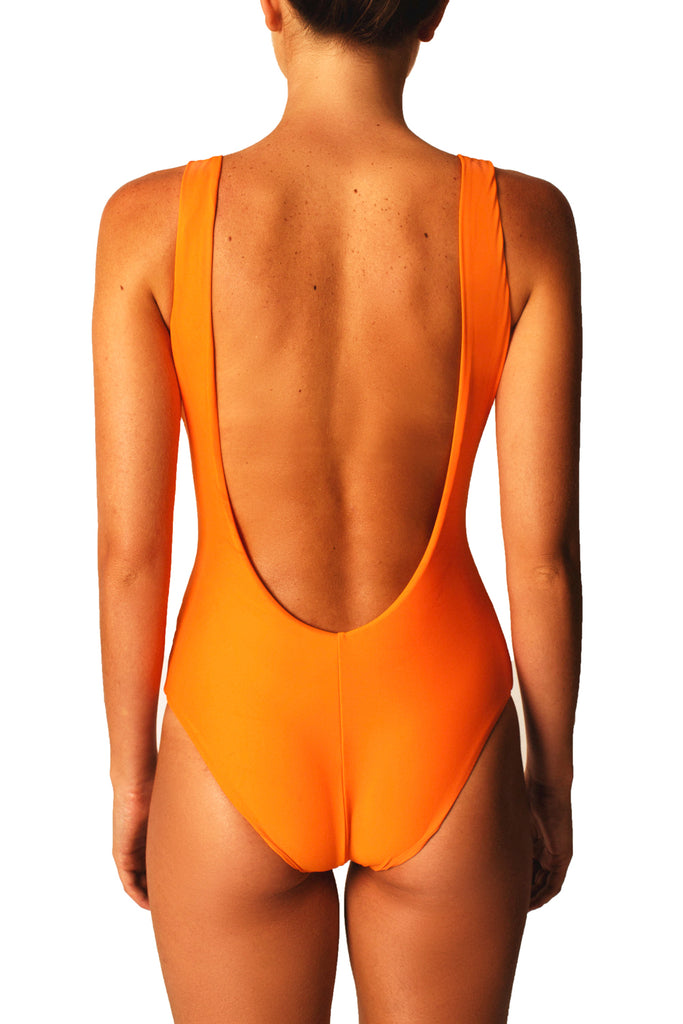 LOW BACK ONE PIECE - ORANGE