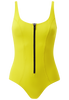 JASMINE BONDED ONE PIECE - LEMON