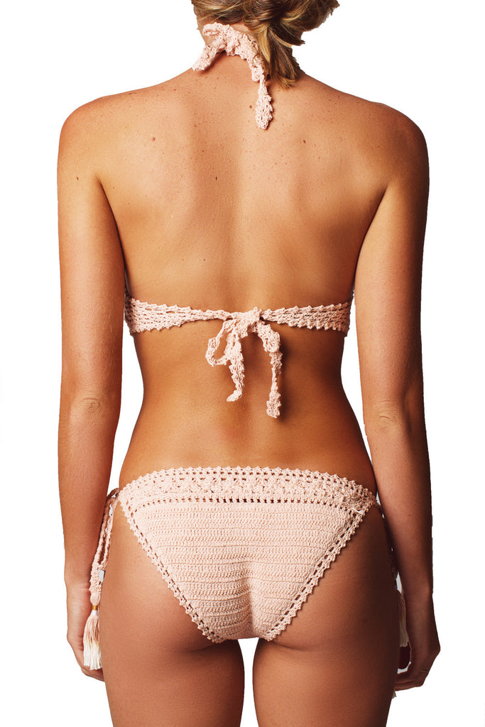 FARAH TIE SIDE BOTTOM - PEACH