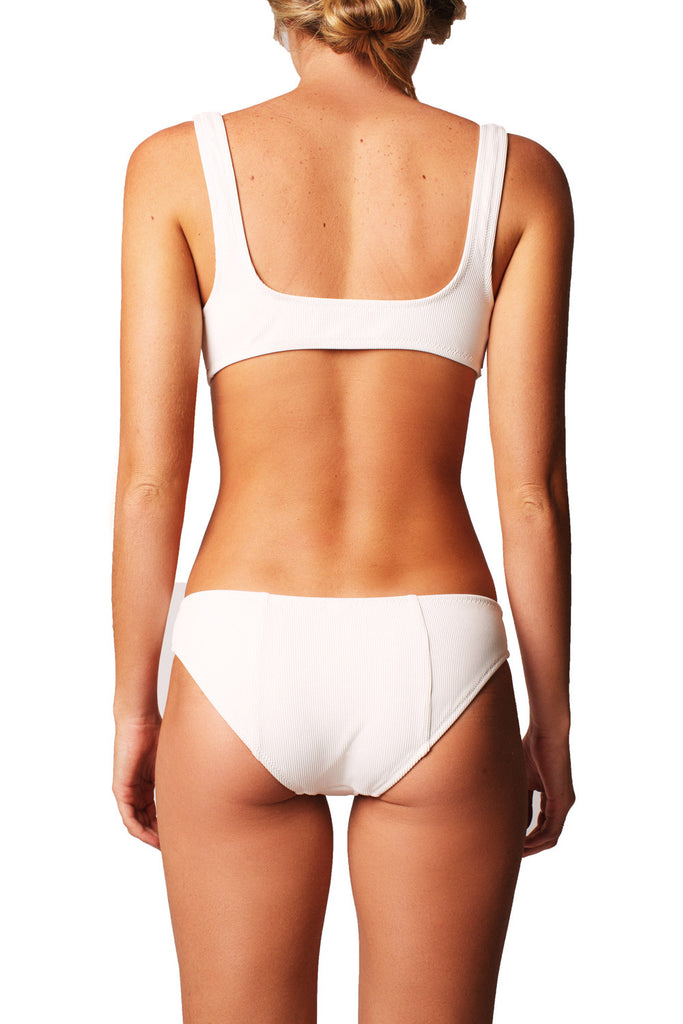 THE ISABELLA BOTTOM - IVORY RIB